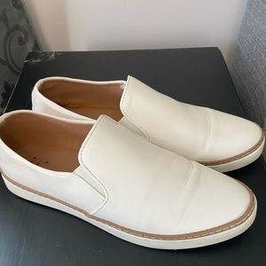 """A New Day"" brand, White, Faux-Leather Loafers"